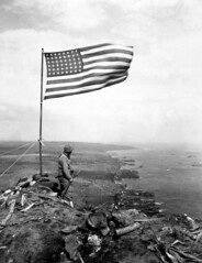 US Marine's on Mount Suribachi  Iwo Jima February 24th 1945