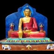 Nepal - Swayambhunath - Buddha Statue - 56d.