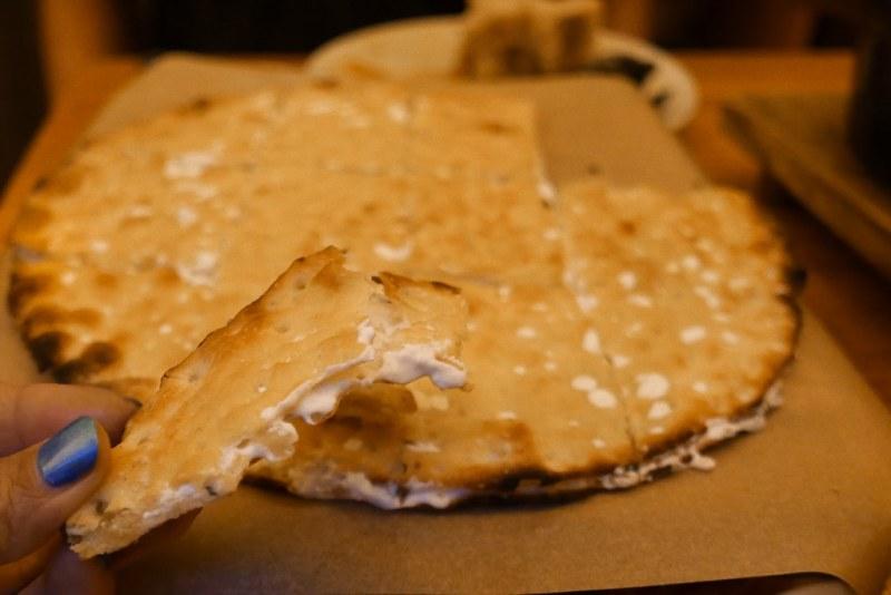 Deluxe Focaccia, Taleggio Cheese, Ricotta, Truffle, Fresh Herbs ($18)