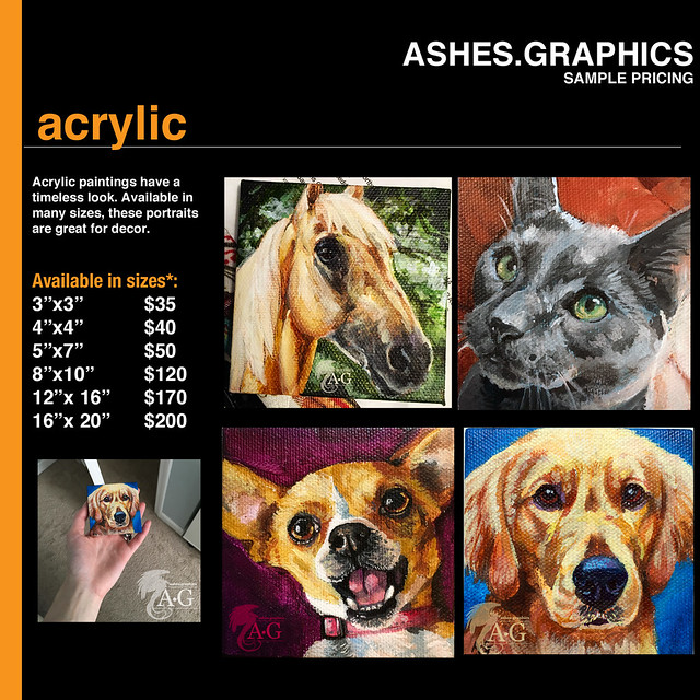 Updated Price List: Acrylic