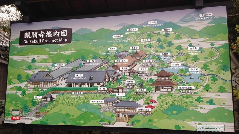 3 Hari Keliling Kyoto - Ginkakuji Temple Map