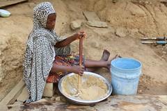 Fulani girl mixing Labu, (Kuli Kuli mix), Langa Langa Village, Nasarawa State, Nigeria, #JujuFilms