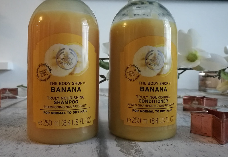 The body shop banana shampoo and conditioner