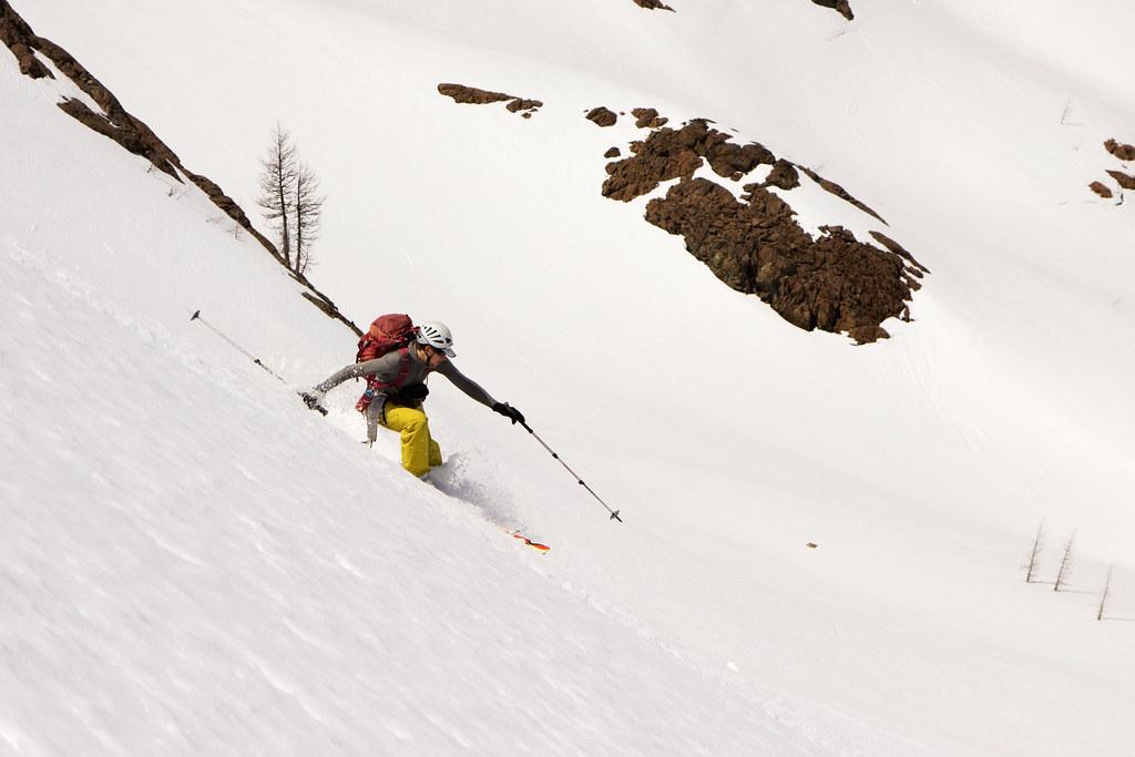 Skiing Ingalls Basin
