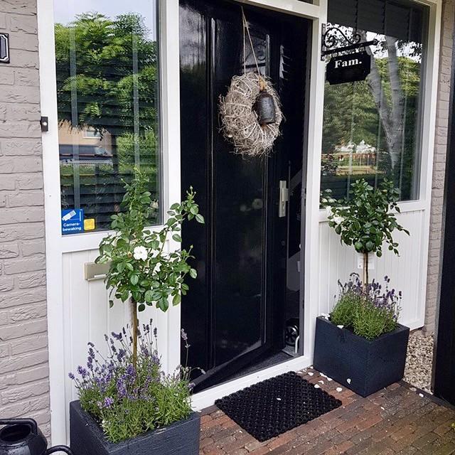 Zwarte voordeur