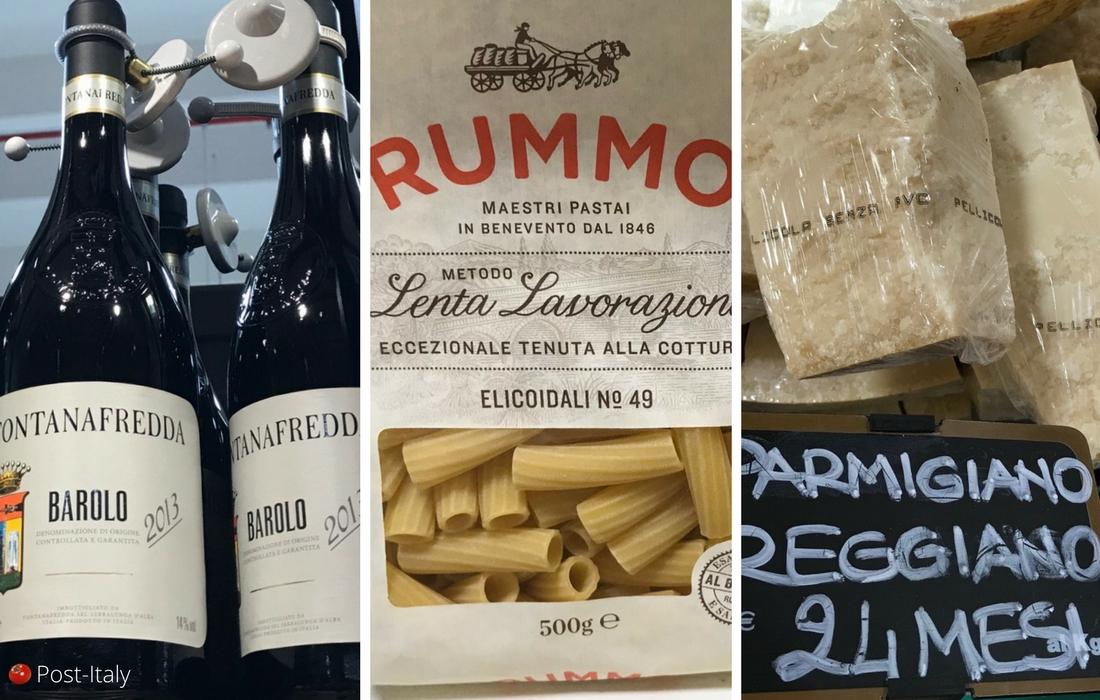 Produtos gastronômicos italianos
