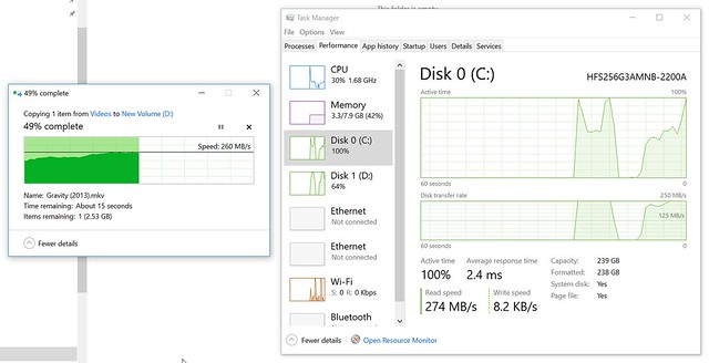 ลองก็อปปี้ไฟล์ 5GB ด้วย SanDisk Ultra 3D SSD
