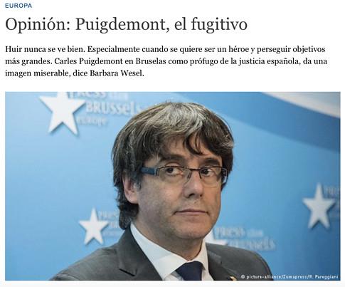 17k03 Deutsche Welle Puigdemont da una imagen miserable