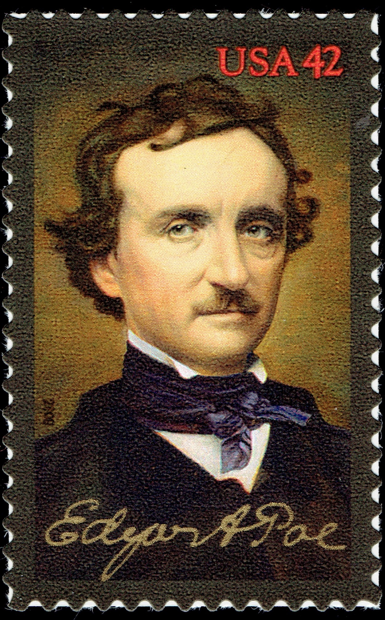 The Raven By Edgar Allan Poe A Stamp A Day
