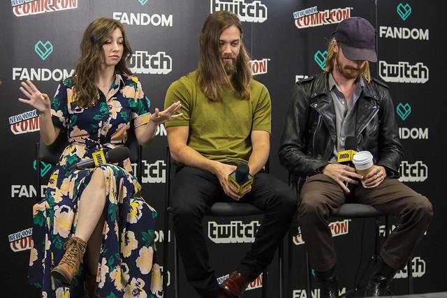 Katelyn Nacon, Tom Payne and Austin Amelio