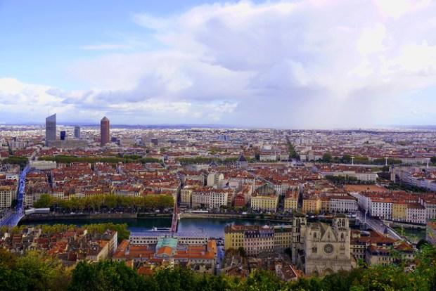 Lyon panorama, seen from Fourvière