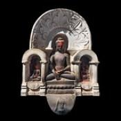 Nepal - Swayambhunath - Detail - Sitting Buddha - 82d.