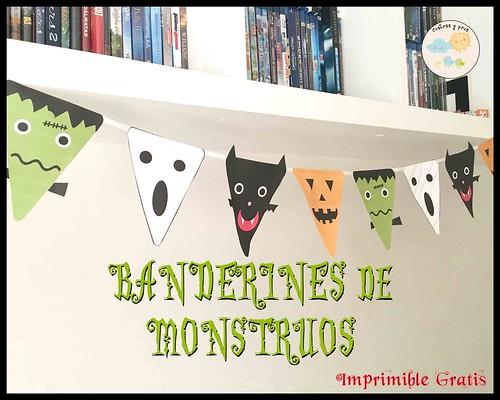 Banderines de monstruos