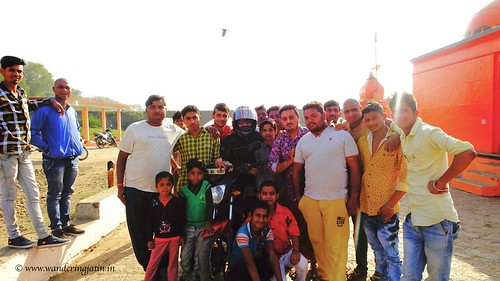 Photo with villagers at Khalghat