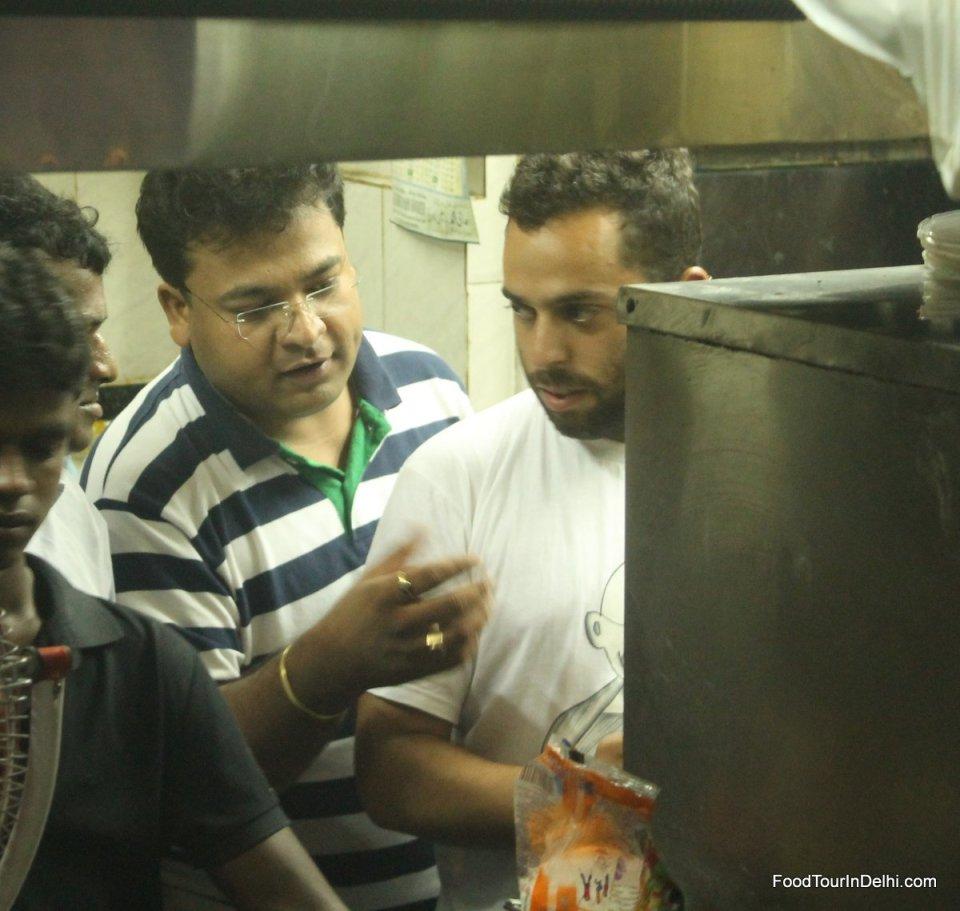 Visiting a restaurant kitchen