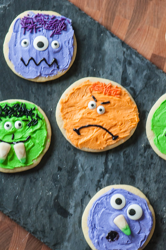 Halloween Monster Sugar Cookies
