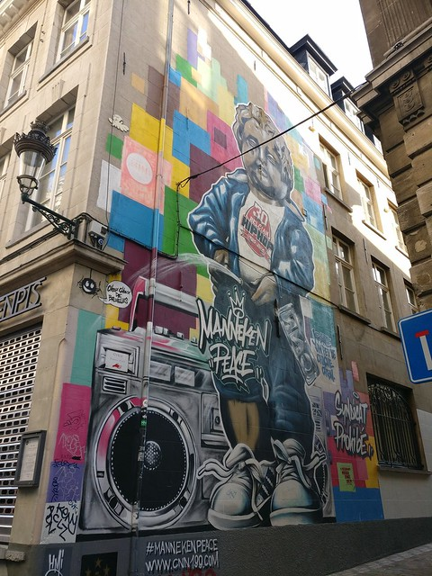 Comics Graffiti In Brussels