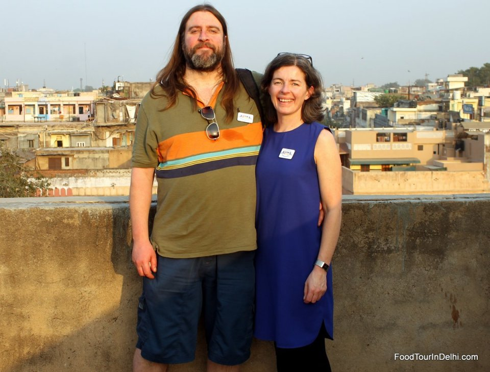 On top of a roof in Old Delhi