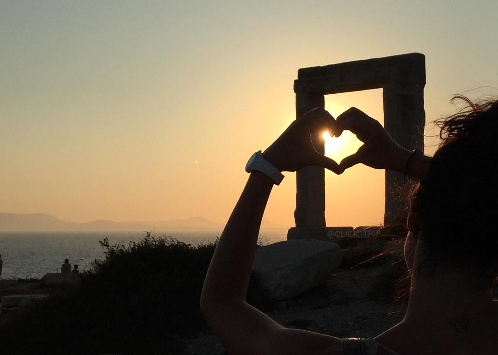 Atardecer en el Templo de Apolo | Que ver en Naxos | Islas Griegas | ClickTrip.ES