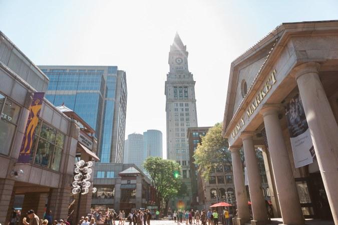Quincy Market in Boston - Wide