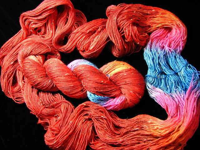 Red Meets CMY - Tiger Tweed Sock Yarn - Tiger Club Sept 2017