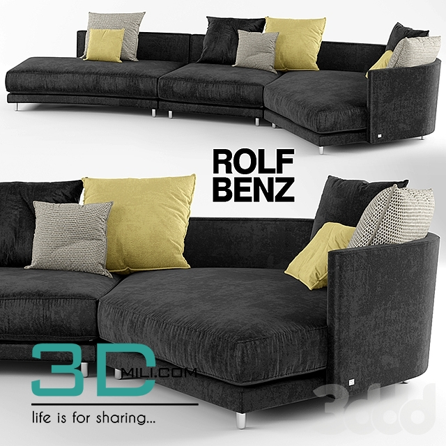 186 rolf benz onda sofa 3d mili download 3d model free 3d models 3d model download. Black Bedroom Furniture Sets. Home Design Ideas