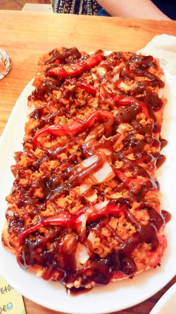 Pizza barbacoa en el Viva Chapata