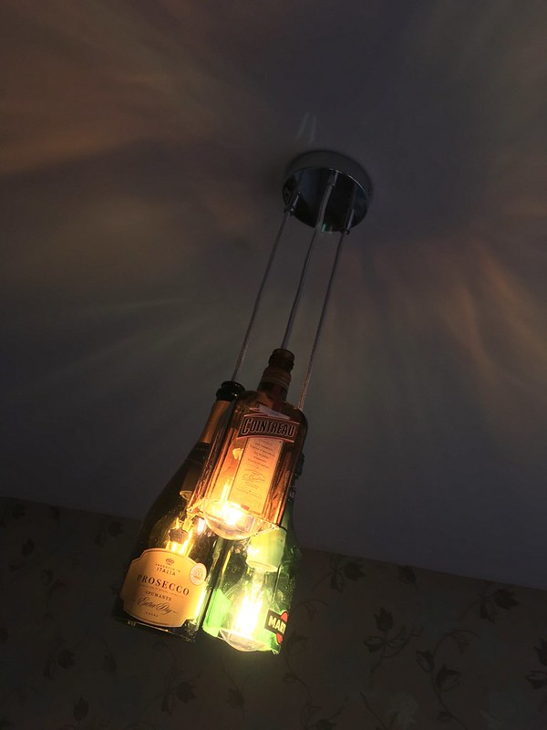 Boozy bottle lamp