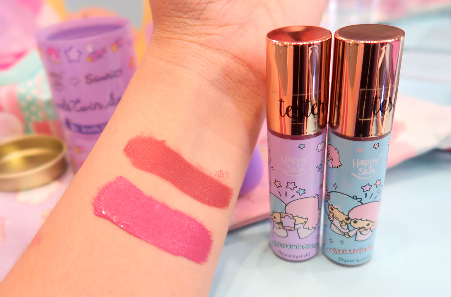 3 Happy Skin x Sanrio Characters - Grand Launch, Preview, Swatches - Gen-zel - She Sings Beauty