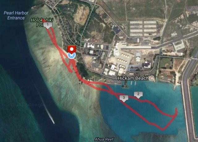Hickam Kayak Route