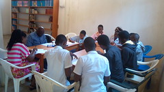 Integrity Clubs members in their learning session in Bukavu