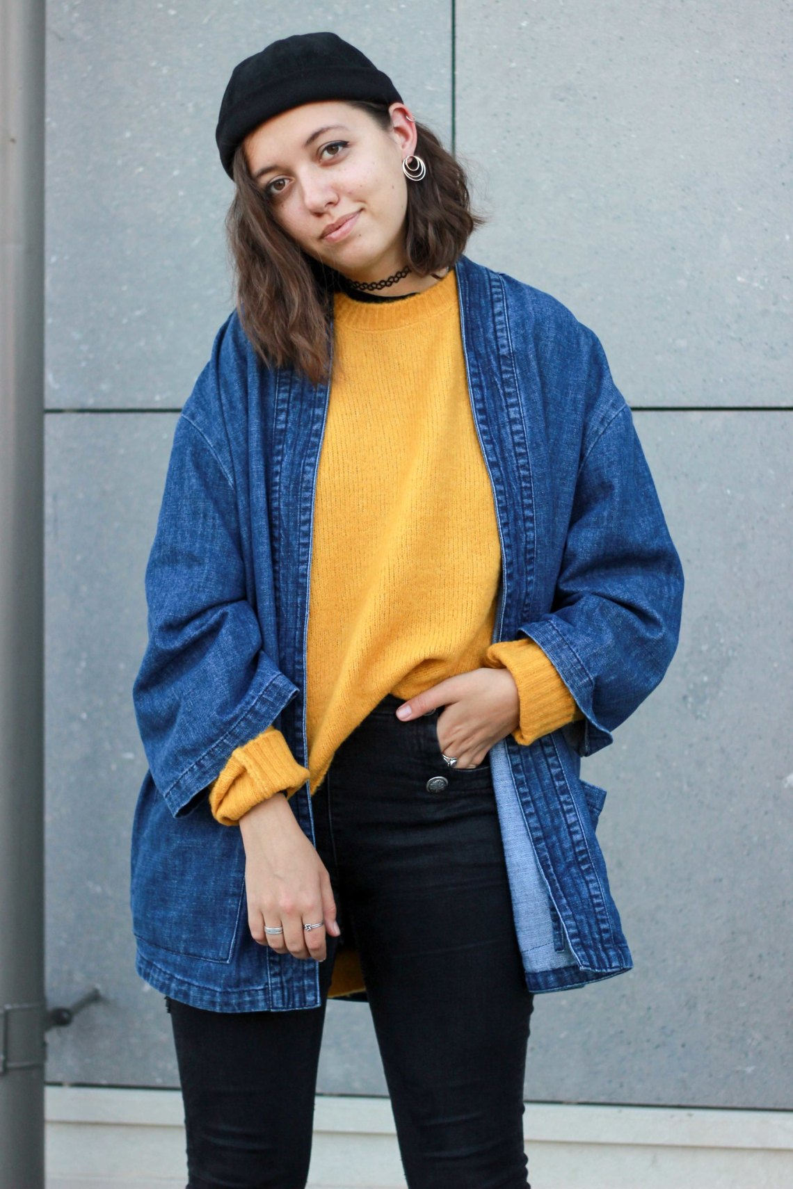 kimono en jean homme
