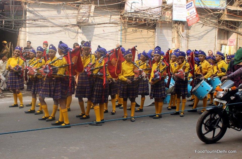 A school parade