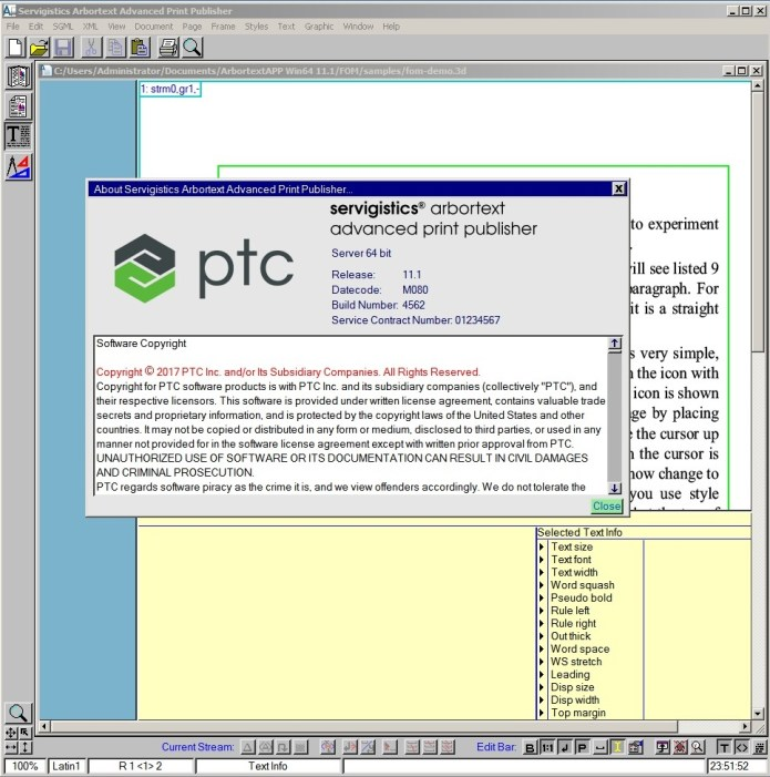 Working with Arbortext Advanced Print Publisher 11.1 M080 full license