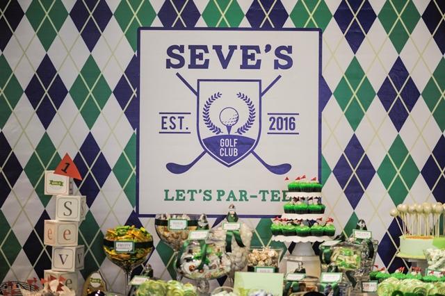 golf party dessert spread