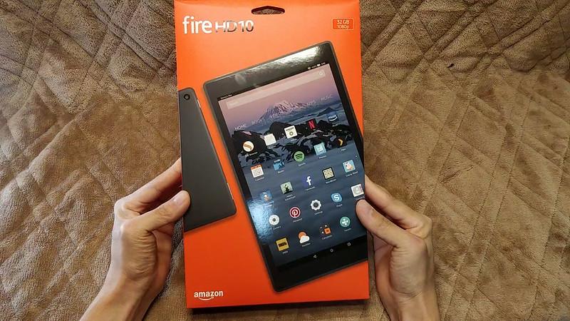 Amazon Fire HD 10 2017 開封レビュー (1)