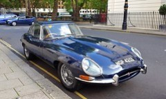 1966 E-Type 4.2 Jaguar. Midnight Blue.