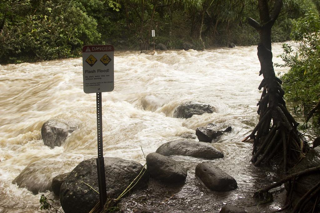 Kalalau Trail flooding