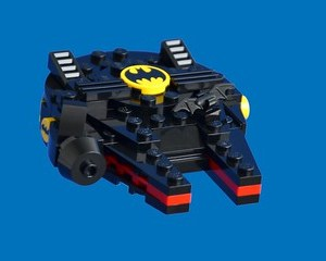 Bat-lenium Falcon - front