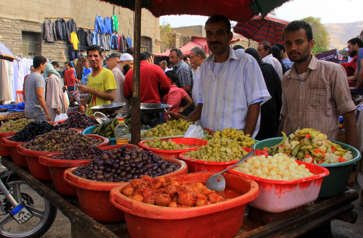 Egyptians love to have pickled vegetables