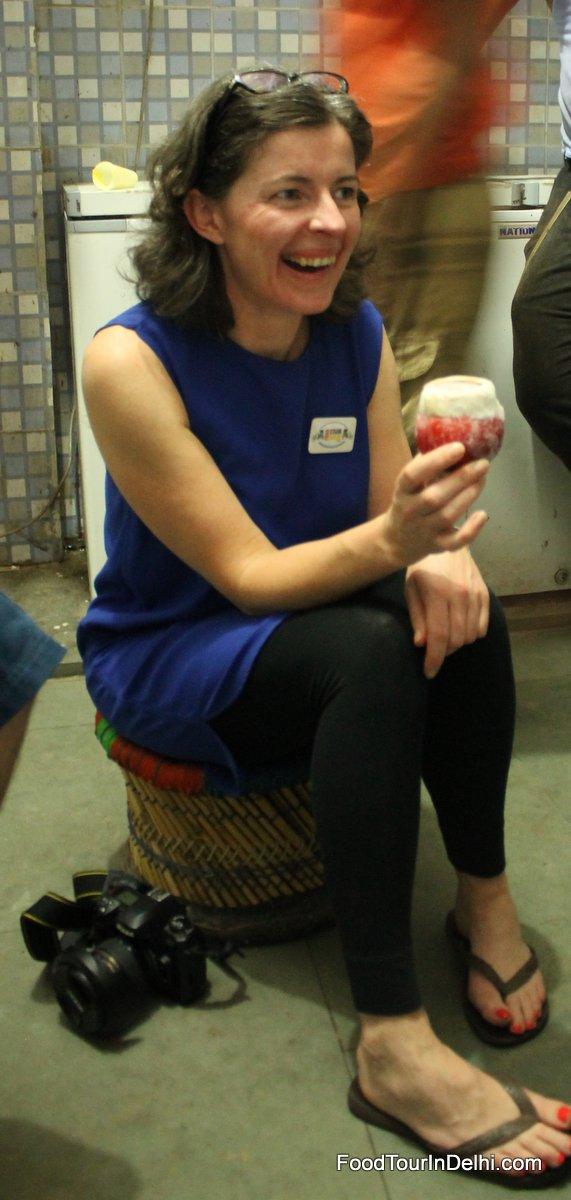 In the kulfi (ice cream) factory