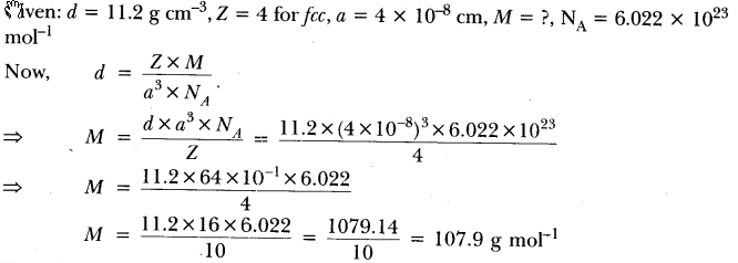 Important Questions for CBSE Class 12 Chemistry The Solid State