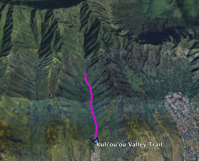 Kuliouou Valley Google Earth Map