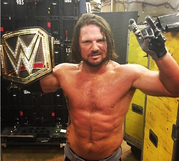 New WWE World Champion, AJ Styles backstage after WWE Backlash from Sunday 9/11/…