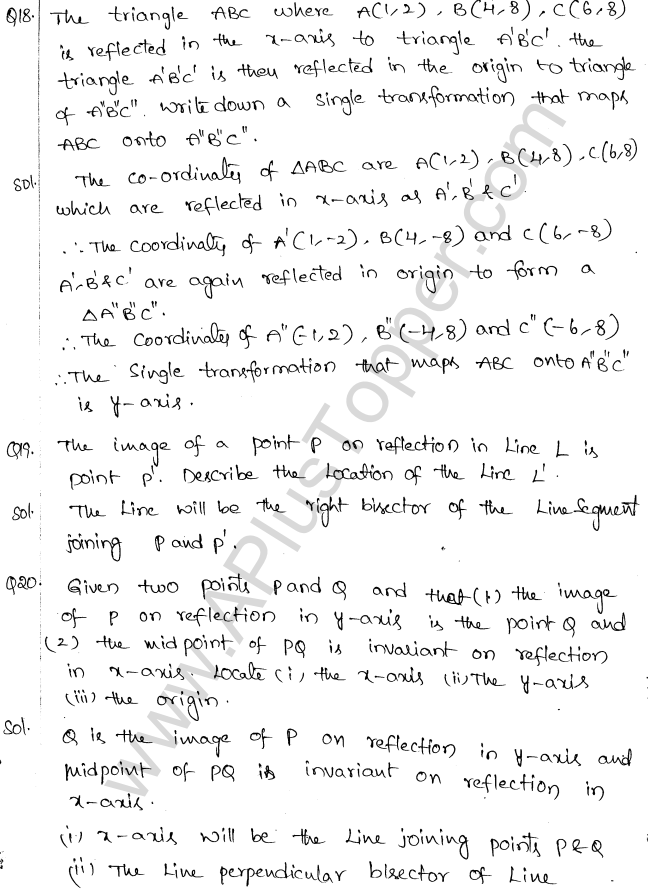 ml-aggarwal-icse-solutions-for-class-10-maths-chapter-10-reflection-10