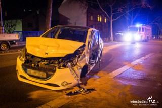 Verkehrsunfall Wiesbadener Landstraße 08.12.17