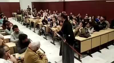 Demostración de Ryôen ryû naginatajutsu en la Conferencia Historia y Arte de las armas y armaduras japonesas