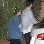Miley Cyrus and Liam #Hemsworth at Nobu in Malibu.