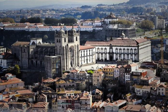 Vistas desde la torre los clérigos, Catedral de Oporto.