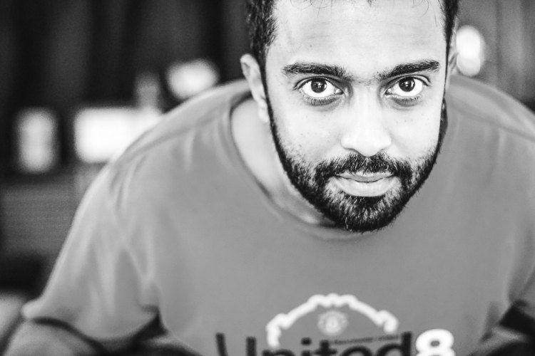 Arun Velekkat - A candid click with The Take-It-Easy Chef